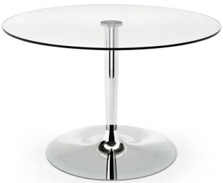 Connubia Planet Glass Round Dining Table - 120cm