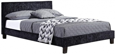 Margot Black Crushed Velvet Bed