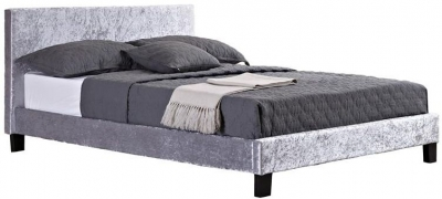 Margot Steel Crushed Velvet Bed