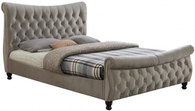 Margot Warm Stone Fabric Bed