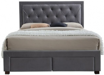 Margot Grey Fabric Bed