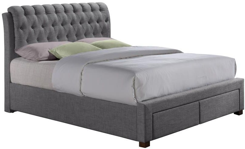 Paislee Grey Fabric Bed