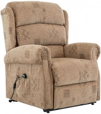 Riva Wheat Fabric Rise and Recliner Chair