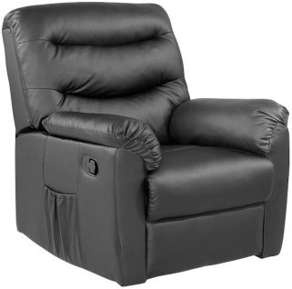 Riva Black Faux Leather Recliner Chair