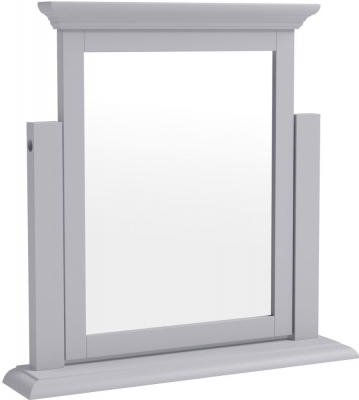 Ashby Moonlight Grey Painted Trinket Mirror
