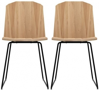 Ethnicraft Oak Facette Dining Chair (Pair)