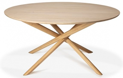Ethnicraft Oak Mikado Round Dining Table