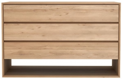 Ethnicraft Oak Nordic 3 Drawer Chest