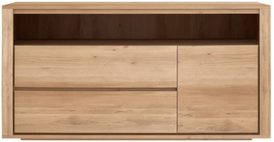 Ethnicraft Oak Shadow 1 Door 2 Drawer Chest