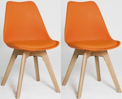 Urban Orange Dining Chair (Set of 4)