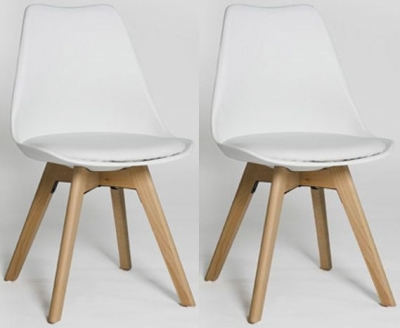Urban White Dining Chair (Set of 4)