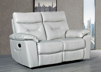 Como Putty Leather 2 Seater Recliner Sofa