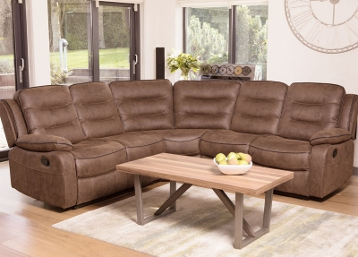 Dakota Caramel Fabric Corner Group Sofa