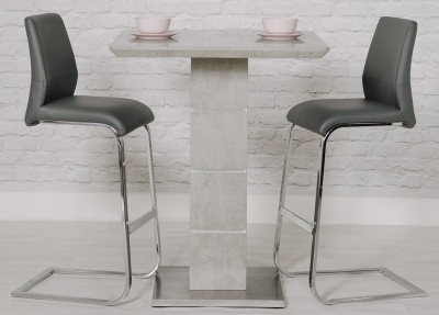 Delta Concrete Bar Table and 2 Seattle Grey Stool