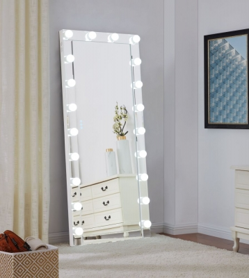 Hollywood Rectangular Floor Lighting Mirror - 70cm x 170cm