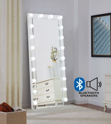 Hollywood Rectangular Floor Lighting Mirror with Bluetooth - 70cm x 170cm