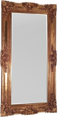 Rugby Antique Gold Rectangular Mirror - 200cm x 100cm