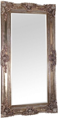 Rugby Antique Silver Rectangular Mirror - 200cm x 100cm