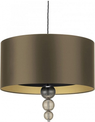 Alette Smoke Glass 20inch Pendant with Gilt Satin Shade