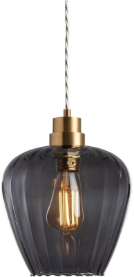 Giselle Slate Glass and Antique Brass Pendant