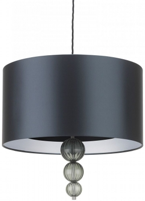 Alette Opal Jade 18inch Pendant with Dark Teal Satin Shade