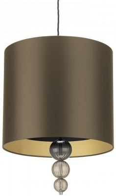 Alette Smoke 16inch Pendant with Gilt Satin Shade