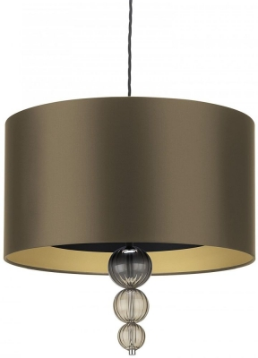Alette Smoke 18inch Pendant with Gilt Satin Shade