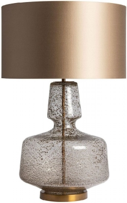 Adora Antique Glass Table Lamp with Gilt Satin Shade