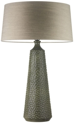 Clothilde Sorrel Ceramic Table Lamp with Birch Glaze Linen Shade