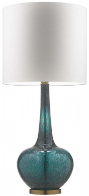 Grace Tuscan Teal Table Lamp with Porcelain Silk Shade