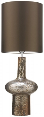 Verdi Gold Glass Table Lamp with Gilt Satin Shade