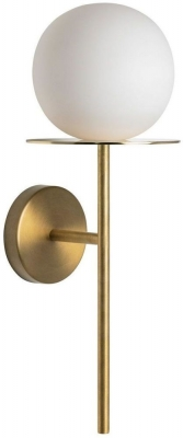 Halo White and Polished Brass Wall Light