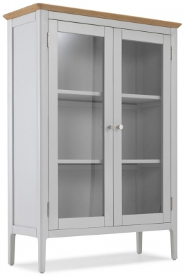 Almstead Grey Painted Glazed Cabinet
