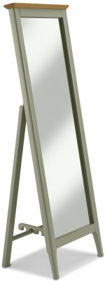 Ancona Sage Green Painted Cheval Mirror - 53cm x 147cm
