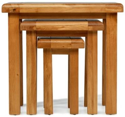 Arles Oak Nest of Tables