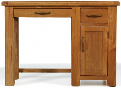 Arles Oak Single Pedestal Computer Desk