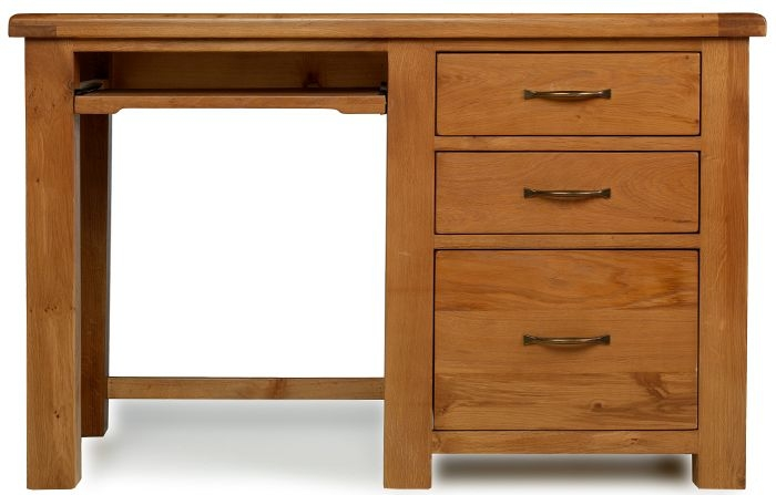 Arles Oak Desk with Filing Cabinet