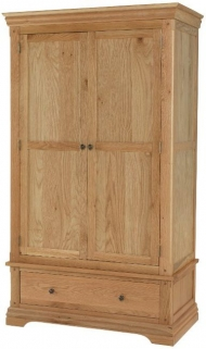 Bayford Oak 2 Door 1 Drawer Wardrobe