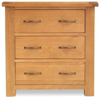 Bradburn Oak 3 Drawer Chest