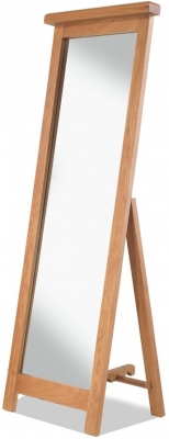 Bradburn Oak Cheval Mirror - 53cm x 147cm