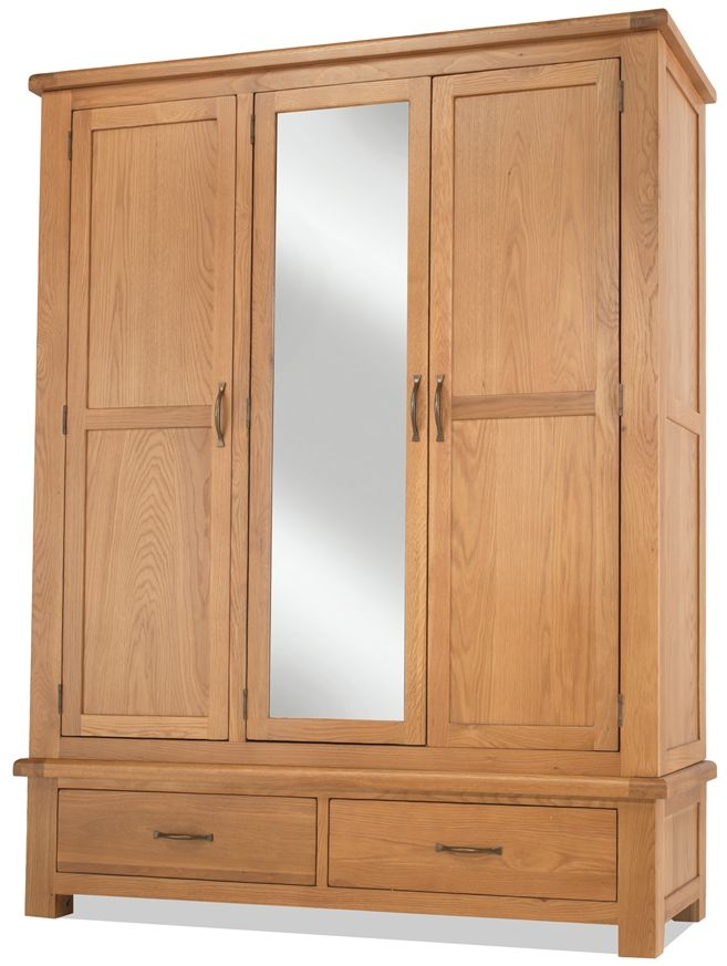 Bradburn Oak 3 Door Combi Wardrobe