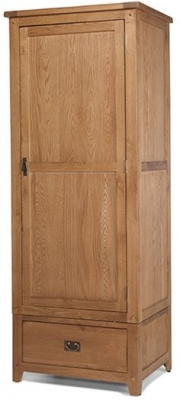 Cherington Oak 1 Door 1 Drawer Wardrobe
