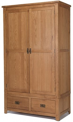 Cherington Oak 2 Door 2 Drawer Wardrobe