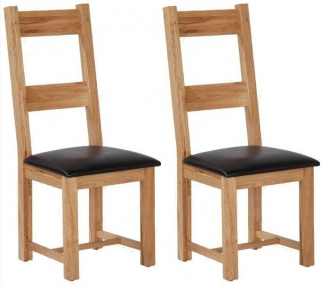 Cherington Oak Ladder Back Dining Chair (Pair)
