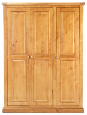 Churchill Pine 3 Door Triple Wardrobe