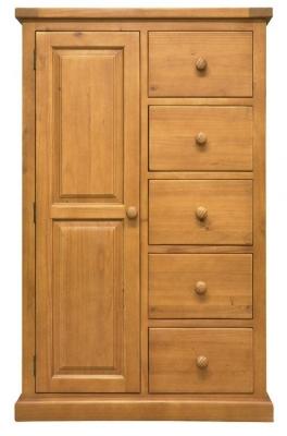 Churchill Pine 1 Door Combi Wardrobe