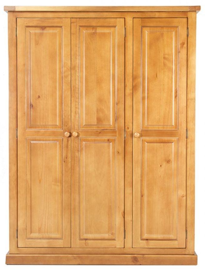 Churchill Pine 3 Door Triple Wardrobe