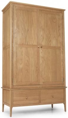 Cornett Oak 2 Door 2 Drawer Wardrobe