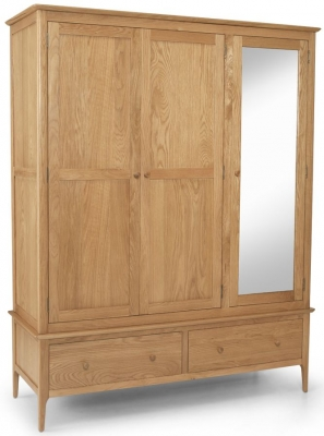 Cornett Oak 3 Door Combi Wardrobe