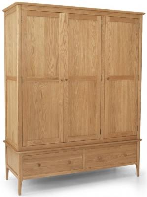 Cornett Oak 3 Door 2 Drawer Wardrobe